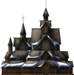 Snowy Stave Church