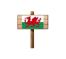 Sign - Wales (Wood)