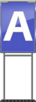 Character Sign A (Blue)