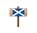Sign - Scotland (Wood)