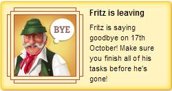 Fritz leaving