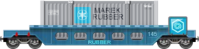 Rubber Well Car