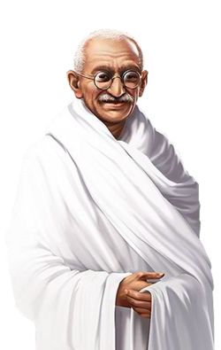 Portrait full Mahatma