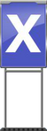 Character Sign X (Blue)