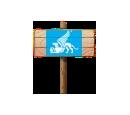 Pixel Sign (Wood)