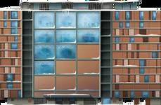 Snowy Urban Housing