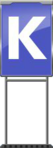 Character Sign K (Blue)
