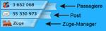 GUI-Bildschirm, oben links