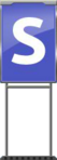 Character Sign S (Blue)