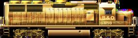 EMD GP50 Goldie