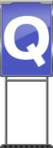 Character Sign Q (Blue)
