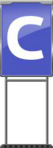 Character Sign C (Blue)
