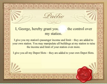 Old George Certificate
