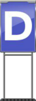 Character Sign D (Blue)