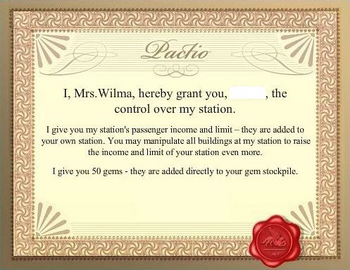 Old Mrs. Wilma Certificate