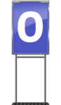 Character Sign 0 (Blue)