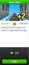 Shop-Erweiterung-Depot Slot-Tafel-grün
