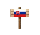 Sign - SVK (Wood)