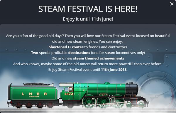 Announcement Steam Festival 2018