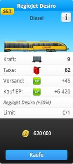 GUI-RegioJet Desiro Shopkarte