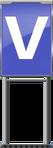 Character Sign V (Blue)