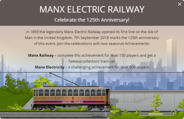 Announcement Manx Electric Railway 2018