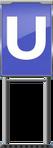 Character Sign U (Blue)