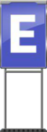 Character Sign E (Blue)