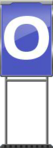 Character Sign O (Blue)