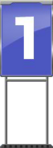 Character Sign 1 (Blue)