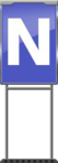 Character Sign N (Blue)