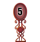 Character Sign 5 (Red)