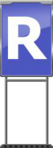 Character Sign R (Blue)