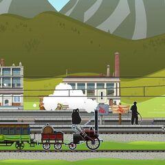Stephenson Rocket arriving