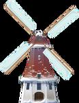Snowy Windmill