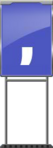 Character Sign Comma (Blue)