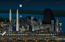 GUI-Bahnhof bei Nacht