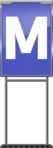 Character Sign M (Blue)