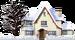 Schattig Besneeuwd Huis