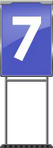 Character Sign 7 (Blue)