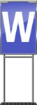 Character Sign W (Blue)