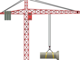 Red Tower Crane