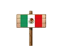 Sign - Mexico (Wood)