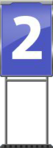 Character Sign 2 (Blue)