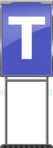 Character Sign T (Blue)