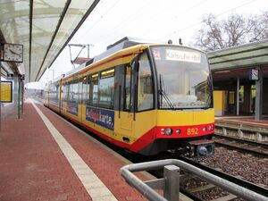 Bretten Bahnhof lijnS4 GT8-100D-M-2S