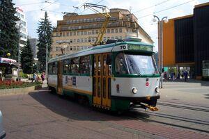 Liberec, Soukenné náměstí, tramvaj