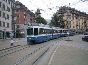Hegibachplatz lijn11 Tram2000