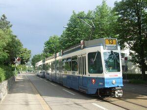Waidfussweg lijn13 Tram2000
