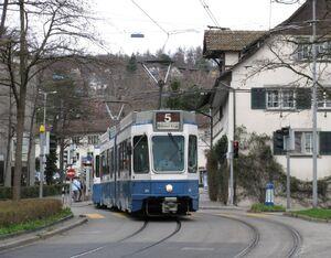 Kirche Fluntern lijn5 Tram2000